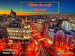 diaporama pps Villes de nuit Madrid