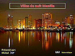 diaporama pps Villes de nuit Manille