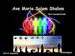 diaporama pps Ave Maria Salam Shalom