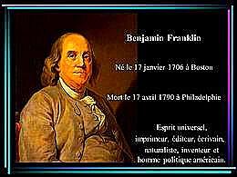 diaporama pps Benjamin Franklin