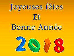 diaporama pps Bonne année pour 2018