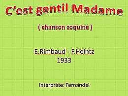 diaporama pps C'est gentil madame