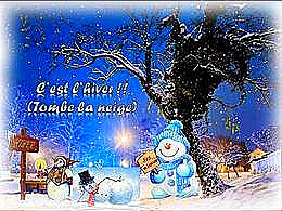 diaporama pps C'est l'hiver tombe la neige