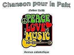 diaporama pps Chanson pour la paix