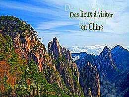 diaporama pps Des lieux à visiter en Chine