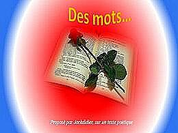 diaporama pps Des mots