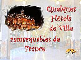 diaporama pps Hôtels de ville remarquables – France