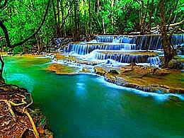 diaporama pps Huay Mae Khamin Waterfall Thailand