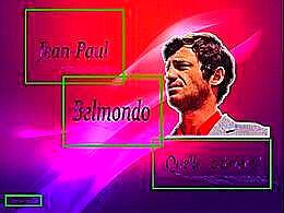 diaporama pps Jean Paul Belmondo quelle carrière