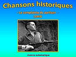 diaporama pps La Complainte du Partisan