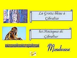diaporama pps Grotte bleue et macaques de Gibraltar