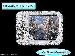 diaporama pps La nature en hiver