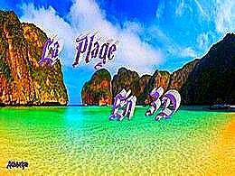 diaporama pps La plage en 3D