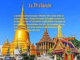 diaporama pps La Thaïlande