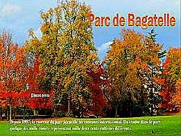 diaporama pps Le parc de Bagatelle automne 2016
