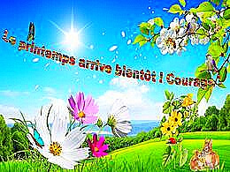 diaporama pps Le printemps arrive bientôt ! Courage