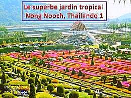 diaporama pps Jardin tropical Nong Nooch Thaïlande 1