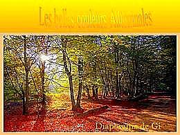 diaporama pps Les belles couleurs automnales