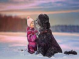 diaporama pps Les petits enfants et les gros chiens