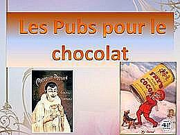 diaporama pps Les pubs sur le chocolat