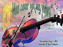 diaporama pps Mon cœur est un violon