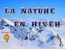 diaporama pps La nature en hivers