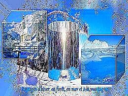 diaporama pps Paysages d'hiver – Montagne, forêt et mer