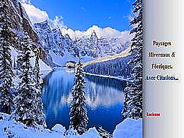 diaporama pps Paysages hivernaux et féeriques avec citations