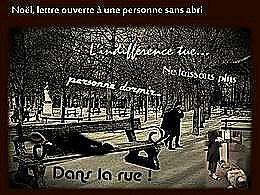 diaporama pps Pour Noël lettre ouverte à une personne sans abri
