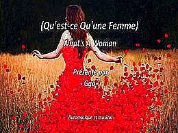 diaporama pps Qu'est ce qu'une femme