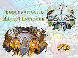 diaporama pps Quelques métros du monde