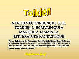 diaporama pps Tolkien