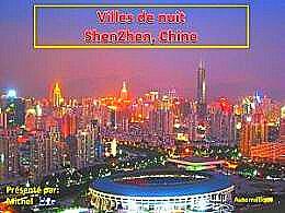 diaporama pps Villes de nuit Shenzhen – Chine