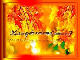 diaporama pps Vous avez dit couleurs d'automne