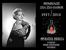 diaporama pps Zsa Zsa Gábor