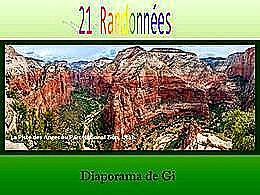 diaporama pps 21 randonnées