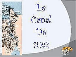 diaporama pps Canal de Suez