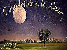 diaporama pps Complainte à la lune