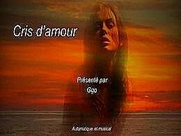 diaporama pps Cris d'amour