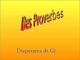 diaporama pps Des proverbes