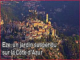 diaporama pps Eze jardin suspendu de la Côte d'Azur