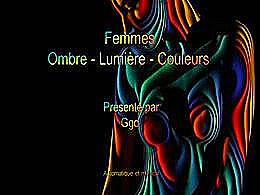 diaporama pps Femmes ombre lumière et couleurs