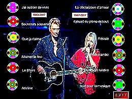 diaporama pps France Gall et Johnny Hallyday