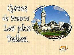 diaporama pps Gares de France