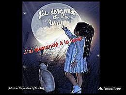 diaporama pps J'ai demandé à la Lune