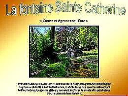 diaporama pps La fontaine Sainte Catherine