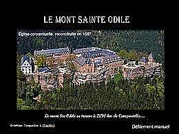 diaporama pps Le Mont Sainte-Odile et le mur païen en Alsace