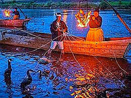 diaporama pps Ukai – Art ancestral japonais – Pêche au cormoran