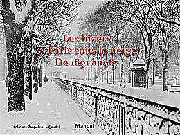 diaporama pps Hivers à Paris sous la neige de 1891 à 1987
