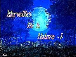 diaporama pps Merveilles de la nature I
